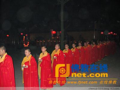 传灯法会 苏州相城圣堂寺举行传灯法会
