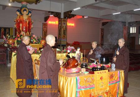 佛七—广东梅州千佛塔寺举行清明佛七法会
