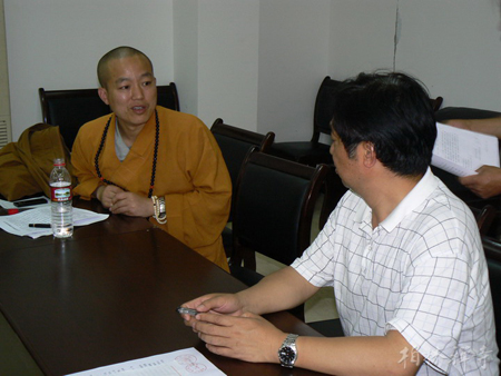 佛教在线四川讯 2008年5月21日下午,河北省赵县柏林禅寺方丈明海法师