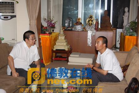 青海塔尔寺藏医院副院长丹贝君尼参访佛教在线(图)