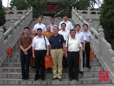新疆乌鲁木齐市委统战部领导参访南京古鸡鸣寺