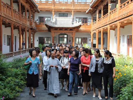 山西省妇联李悦娥主席一行到大乘寺参观访问-