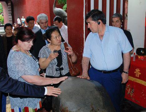 塔吉克斯坦第一副总理古洛莫夫一行到南岳考察