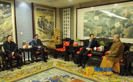 中共上海市委统战部部长沙海林,市委统战部副部长赵卫星一行到上海市