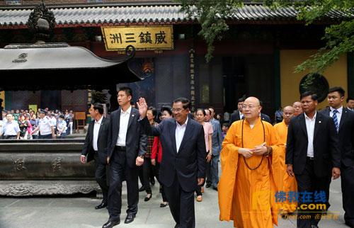 柬埔寨首相洪森到杭州灵隐寺参访