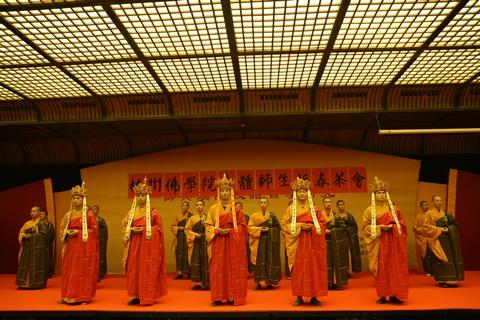 浙江省杭州佛学院法云校区举行2015新春茶话会