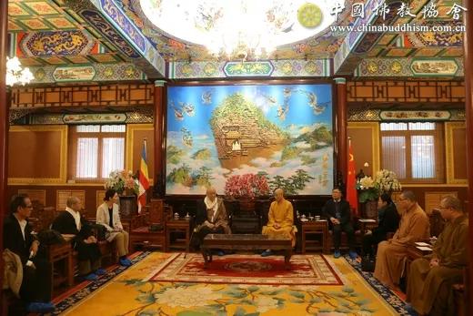 中国佛教协会演觉副会长会见唐招提寺住持西山明彦长老一行_西山-中国佛教-中日-佛教界-佛教