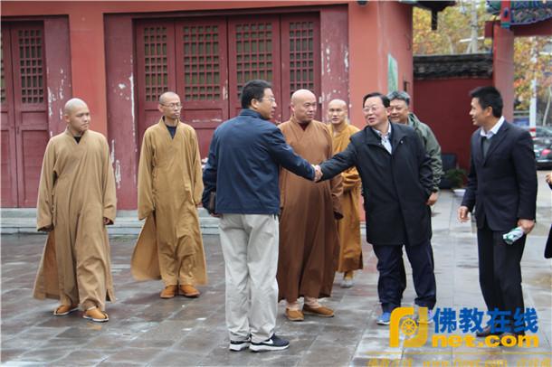 中国宗教杂志社刘金光一行到慈云禅寺采访调研_国师-宗教-淮安-法师-社长