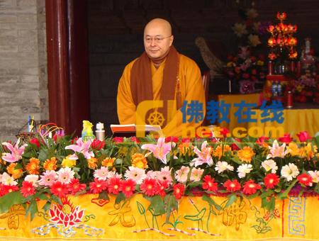 台湾生命电视台台长海涛法师到江苏淮安能仁寺参访