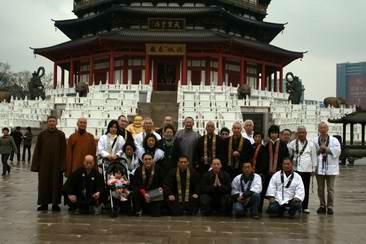 日本佛教信徒至江苏常州天宁寺·天宁宝塔礼佛