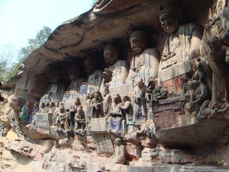 世界文化遗产大足石刻在地震中未受影响