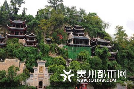 贵州省凯里市镇远县文物部门对青龙洞观音殿展开保护性修缮