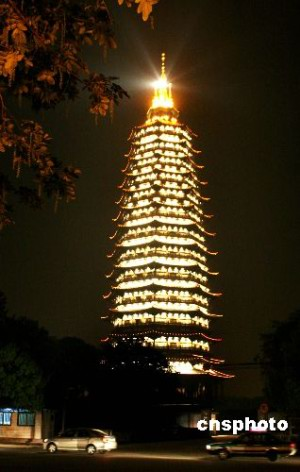 华夏第一佛塔在江苏常州落成开放(图)