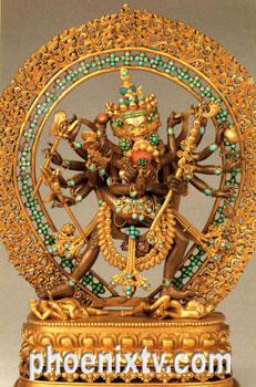佛教在线 首页 文化艺术 文化艺术内容  欢喜金刚主臂拥抱明妃,金刚佛
