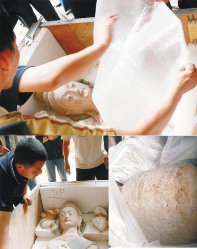 泥塑弥勒佛头像制作视频