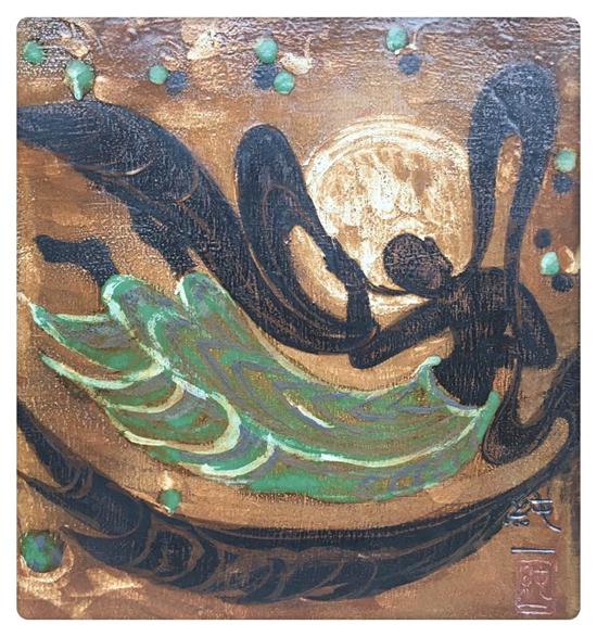 中国敦煌手绘色彩纹样
