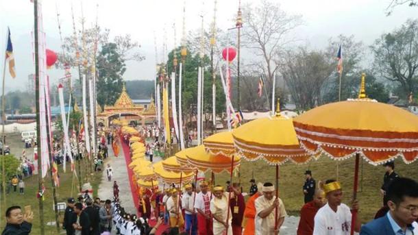 在临沧市耿马自治县孟定镇举办祜巴升座法会,对于发挥南传佛教在对外