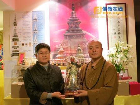 青海西宁大通县感应寺住持智慧法师一行参访佛教在线